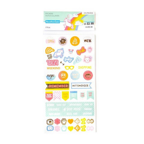 Recollections Planner Stickers:  Lollipalooza Activity - tarrapakkaus