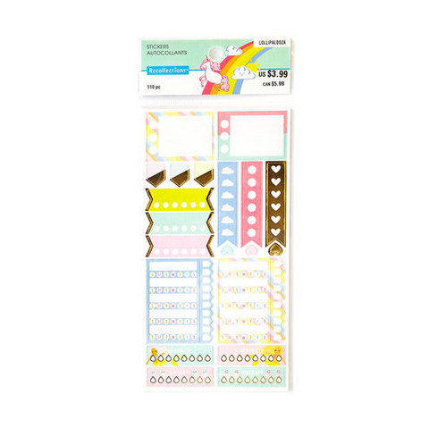 Recollections Planner Stickers:  Lollipalooza Tracker - tarrapakkaus