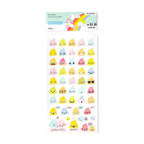 Recollections Planner Stickers:  Lollipalooza Poo Emoji - tarrapakkaus