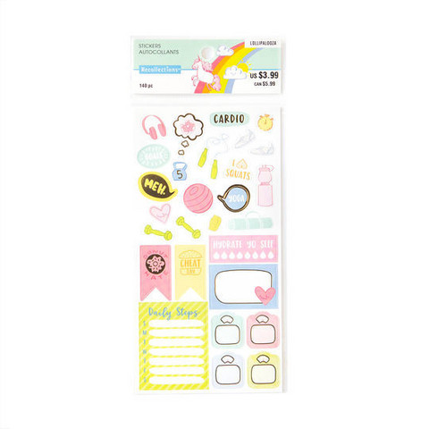 Recollections Planner Stickers:  Lollipalooza Fitness - tarrapakkaus