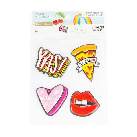 Patch Stickers: Modern Pop Pizza -tarrapakkaus