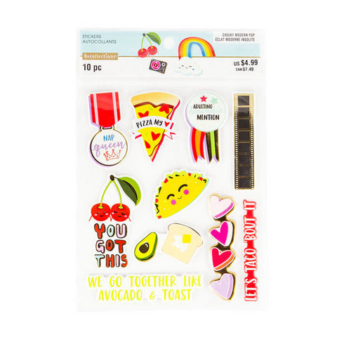 Modern Pop Foiled Puffy Stickers  -tarrapakkaus