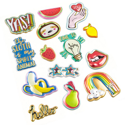 Modern Pop Metallic Puffy Stickers  -tarrapakkaus