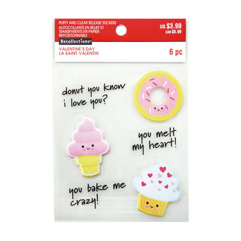 Valentine Puffy Stickers: Punny