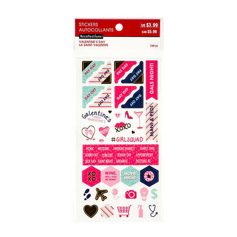 Recollections Planner Stickers:  Valentine Activity - tarrapakkaus