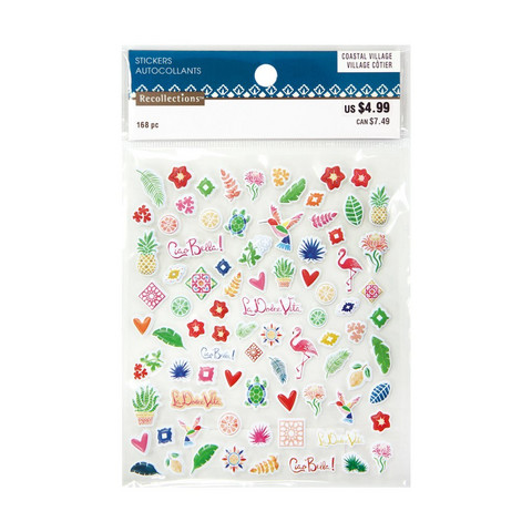 Coastal Village Mini Puffy Stickers