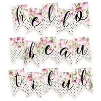 Hello Beautiful Die Cut Garland -koristepakkaus