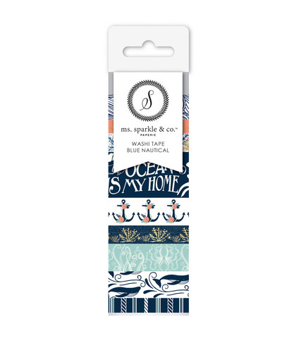 Ms. Sparkle & Co Paperie: Blue Nautical  -washituubi