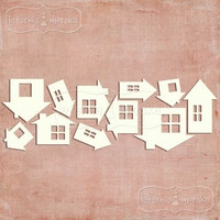 Houses & Cabins  -chipboardpakkaus