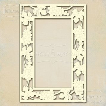 Grapevine Retangle Frame   -chipboardpakkaus