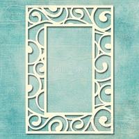 Flourish Retangle Frame   -chipboardpakkaus
