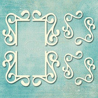 Flourish Ornament Set 4   -chipboardpakkaus