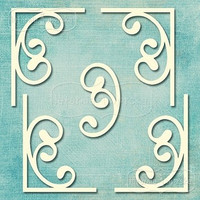 Flourish Ornament Set 1   -chipboardpakkaus