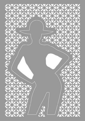 Woman with hat A5 -sabluuna