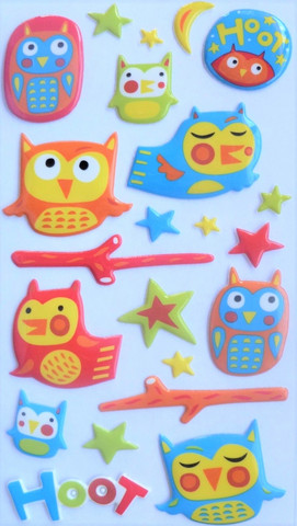 Sticko Puffy Stickers:  Hoot