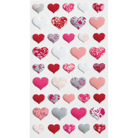 Sticko Puffy Stickers:  Hearts
