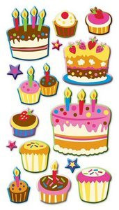 Sticko Puffy Stickers: Cakes and Cupcakes