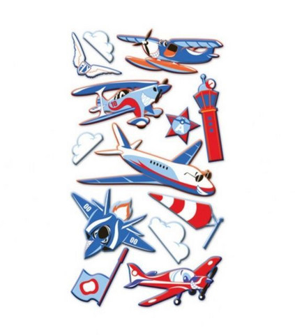 Sticko Puffy Stickers: Funny Planes