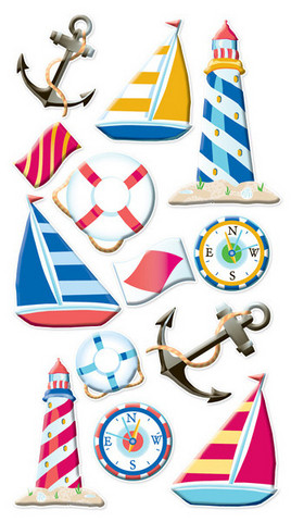 Sticko Puffy Stickers: Nautical Life