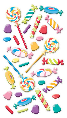 Sticko Puffy Stickers: Sweet Tooth