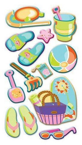 Sticko Puffy Stickers: Let's Go to the Beach