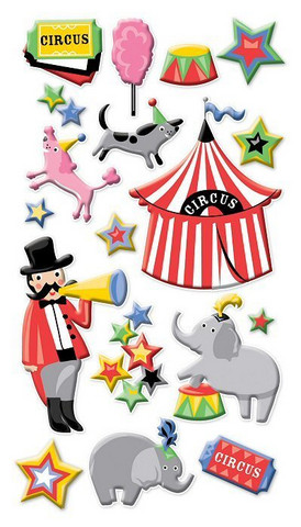 Sticko Puffy Stickers: Circus