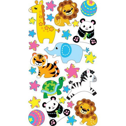 Sticko Epoxy Stickers: Plush Zoo
