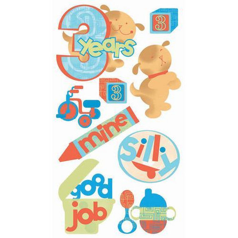 Sticko 3D Stickers: 3 Years Old