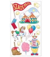 Sticko 3D Metallic Stickers: Circus