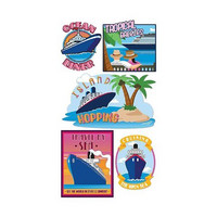 Sticko 3D Metallic Stickers: Cruise Travel