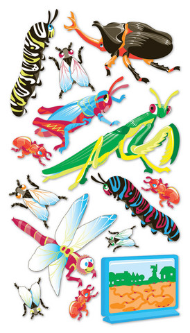 Sticko 3D Metallic Stickers: Bugs