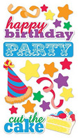 Sticko 3D Metallic Stickers: Birthday Party
