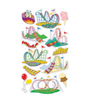 Sticko 3D Metallic Stickers: Roller Coaster