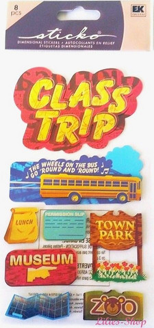 Sticko 3D Metallic Stickers: Class Trip