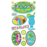 Sticko 3D Metallic Stickers: Spring Break