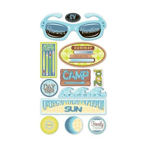 Sticko 3D Metallic Stickers: Summer Vacation