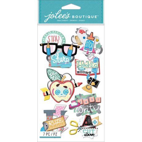 Jolee's Boutique 3D Stickers: School Words