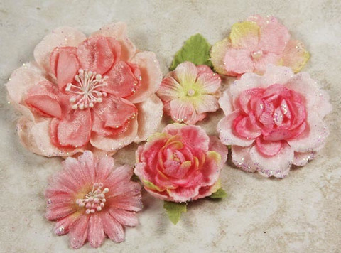 Prima Marketing Flower Embellishments: Symphony Blend Amoroso Pink