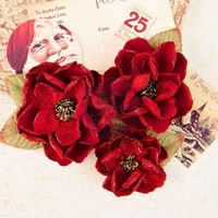 Prima Marketing Flower Embellishments: Peace & Holly