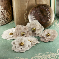Prima Marketing Flower Embellishments: Flaxence Grain