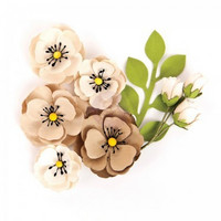 Prima Marketing Flower Embellishments: Brynn Neutral