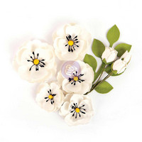 Prima Marketing Flower Embellishments: Blackthorn