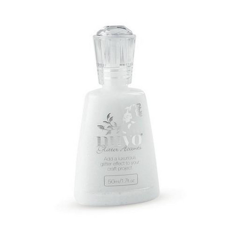 Nuvo Glitter Accents:Fresh Snowfall 50ml