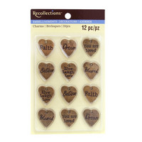 Metal Heart Charms Embellishments