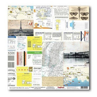 Around The World: A Page from Guidebook 12x12 paperiarkki