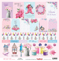 Home Sweet Home: Accessories  12x12 paperiarkki