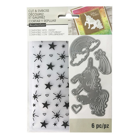 Recollections Dies & Embossing Folder: Unicorn -setti