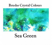 Brusho Crystal Colors -  Sea Green 15g