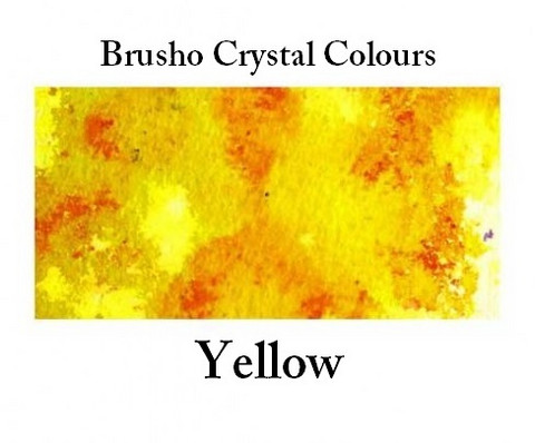 Brusho Crystal Colors -  Yellow 15g