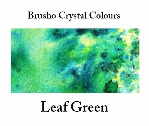 Brusho Crystal Colors -  Leaf Green 15g